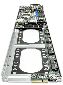 poweredge C5220 server back perspective detail showing QPI