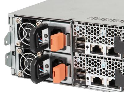 poweredge C6100 server back perspective detail showing QPI