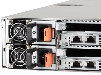 Redundant power supplies on back of Dell C6145 server