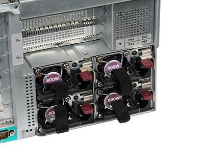 HPE ProLiant DL580 Gen10 power supplies, detail