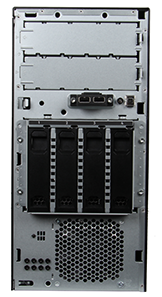 HPE ProLiant ML30 Gen10 Server Tower front view without bezel