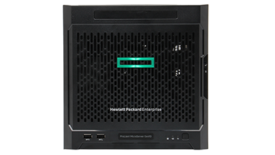 HPE MicroServer Gen10 front view