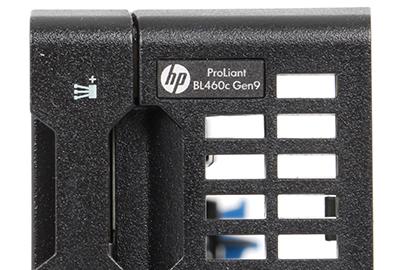 detail front branding on hpe bl460c gen9 blade server