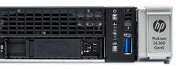 HPE DL360 Gen9 server front detail