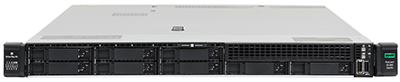 HPE DL360 gen10 server front of system with 8 x 2.5-inch drive bays