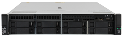 HPE DL380 gen10 server front of system
