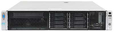 hpe dl380e gen8 front perspective with bezel