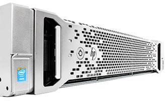 hpe dl380 g9 server front of system perspective detail