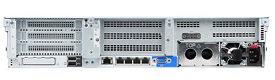 HPE DL385 gen10 server rear of system