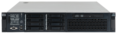 hpe dl385 gen7 front perspective with bezel