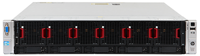 hpe dl560 gen8 front perspective with bezel