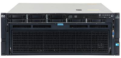 HPE DL585 Gen7 server front of the system