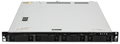 hpe DL60 gen9 server 4-bay front perspective