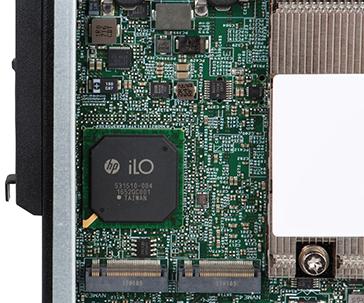 ProLiant m710x Server Cartridge storage side top view