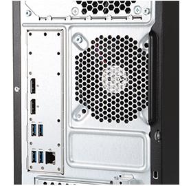 proliant ML10 gen9 server rear view