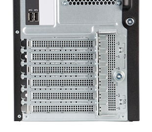 HPE ML110 gen10 server tower rear view