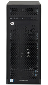 hpe ML110 gen9 front perspective with bezel