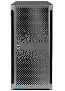 HPE ML350e gen8 tower server front elevation with bezel