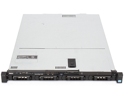 poweredge R420 server block front with 4 3.5-inch drive bays