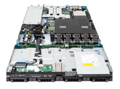 Dell R430 4-bay top view no cover panel