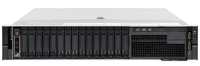 Dell EMC R740 front of the system
