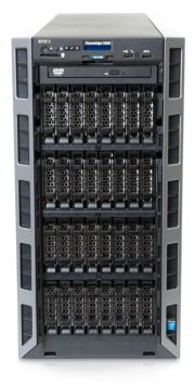 Dell PowerEdge T630 server 32-bay chassis front of system