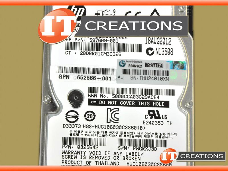 HITACHI GLOBAL 300GB 10K RPM SAS 2 5 INCH SFF HARD DRIVE HDD 0B25642-HP