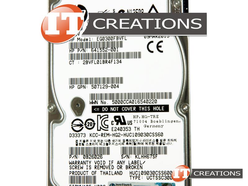 0B26026-HP - Refurbished - HP / HITACHI GLOBAL 300GB 10K RPM