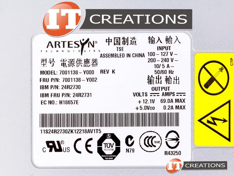 24r2731 ibm power supply 835w hot plug for ibm x3400 x3400 m2 x350 rh itcreations com