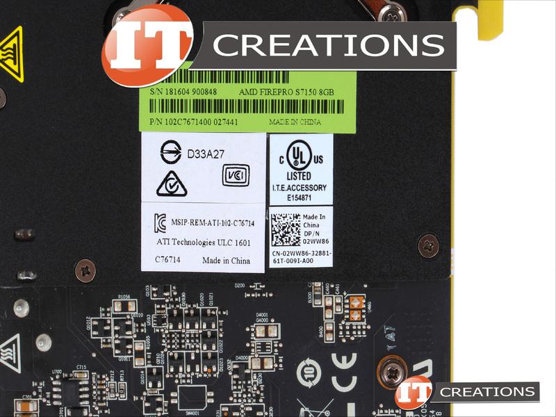 DELL AMD FIREPRO S7150 SERVER GPU ACCELERATOR 8GB GRAPHICS CARD GPGPU 2WW86