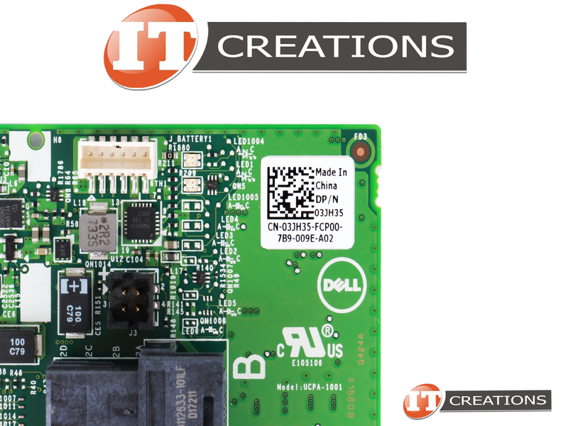 DELL PERC H740P 12GB/S SAS / 6GB/S SATA 8 PORTS RAID CONTROLLER 3JH35-LOW P
