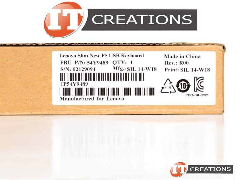 54Y9489 LENOVO SLIM F5 USB KEYBOARD ( SK-8821 )