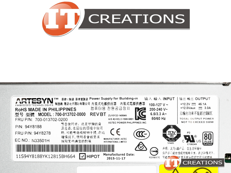 700 013702 0200 ibm ibm power supply 550w 80 plus platinum hot swap fo rh itcreations com
