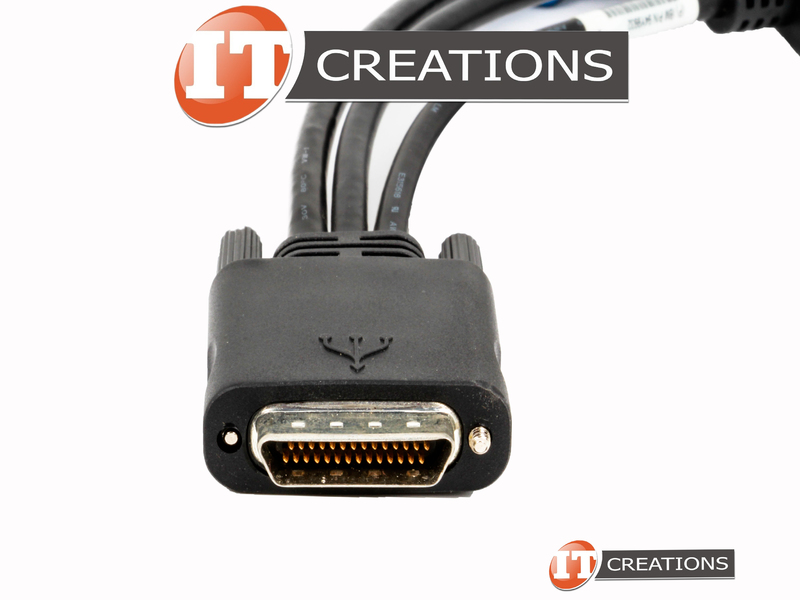 IBM CONSOLE BREAKOUT CABLE - KVM TO SERIAL / USB / VGA 81Y5286