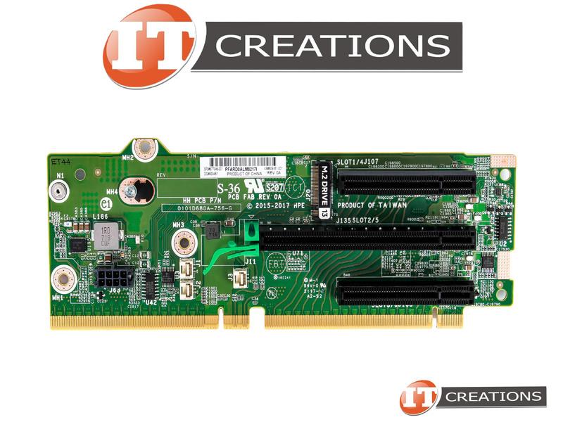 HP PRIMARY PCIE / M 2 RISER CARD FOR HPE PROLIANT DL380 G10 ( GEN10 ) /  DL385 G10 - RISER BOARD SLOT 1 / 4 PCI-E X8 SLOT 2 / 5 PCI-E X16 SLOT 3 / 6