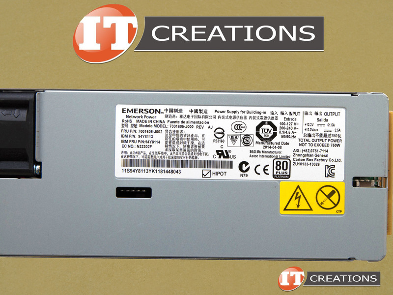 94y8113 Ibm Power Supply 750w Ac 80 Plus Platinum Hot Swap