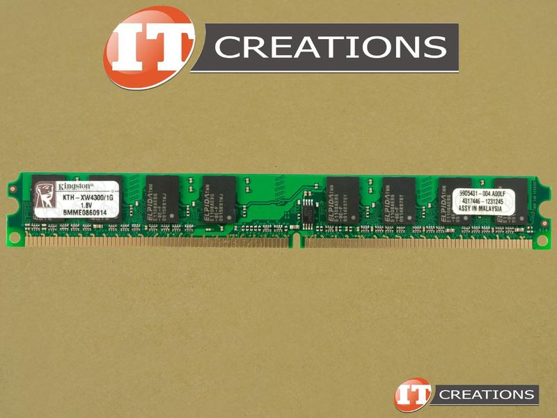 9905431-004 A00LF KINGSTON 1GB PC2-5300 DDR2-667 UNBUFFERED NON ECC 24