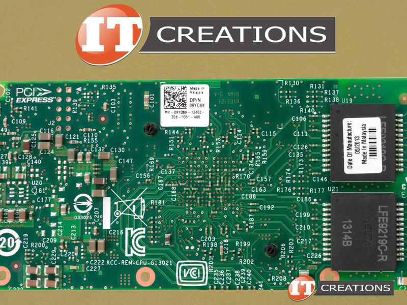 9YD6K-NO BRACKET DELL / INTEL I350-T4 QP NIC 1GBE PCI-E 2 1 X4 5 0 GT