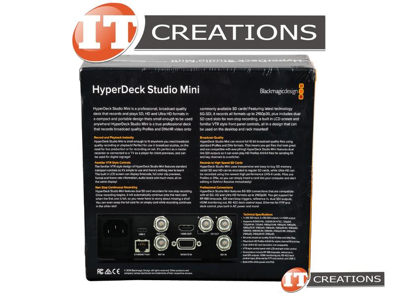 Hyperd Stm Retail Retail Blackmagic Design Hyperdeck Studio Mini Ultrahd 6g Sdi Hyperd Stm