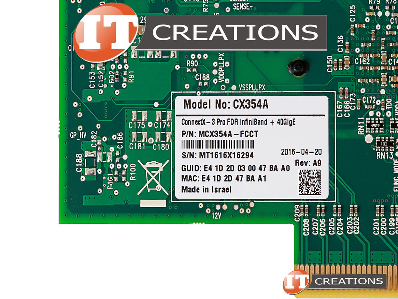 MCX354A-FCCT-LOW P MELLANOX CONNECTX-3 PRO VPI FDR IB 40GBE 40/56GBE D