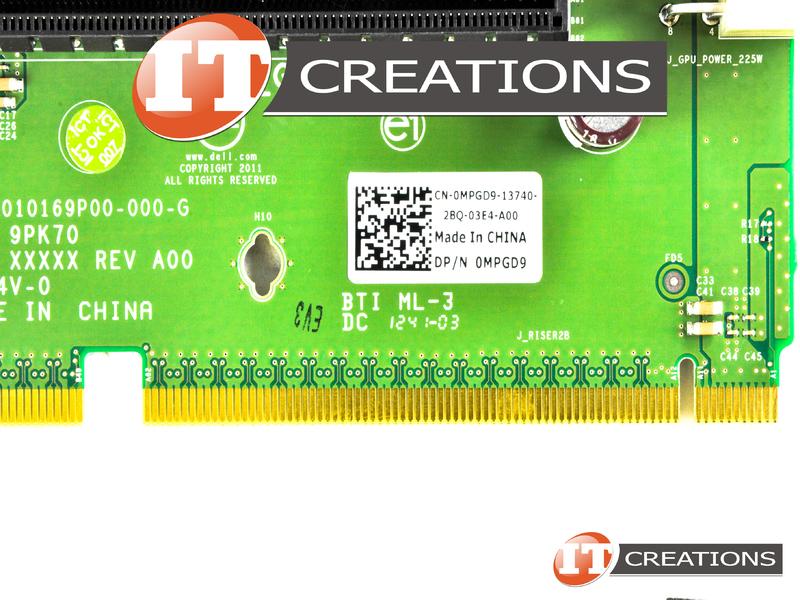 MPGD9 DELL RISER CARD 2 FOR DELL POWEREDGE R720 / R720XD - SLOT 4 PCI-
