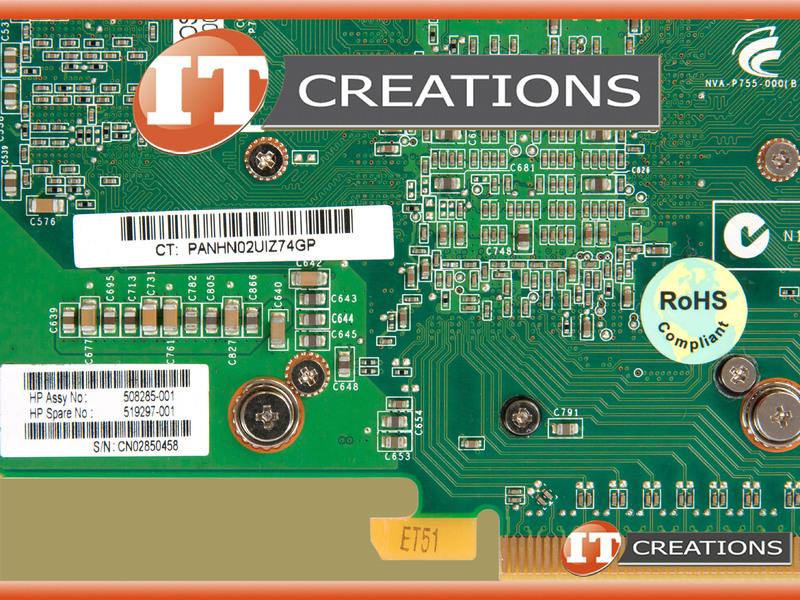 HP Nvidia Quadro FX3800 1GB 256-Bit GDDR3 PCI-E Video Graphics Card 508285-001