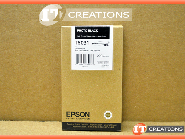 T6031 - New - EPSON T6031 PHOTO BLACK INK CARTRIDGE FOR